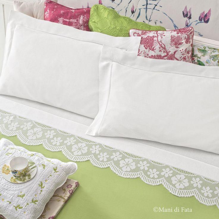 lino per fare lenzuolo matrimoniale con bordo uncinetto