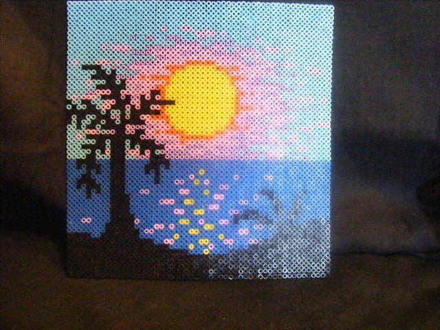 Sunset hama perler beads by ki-vi