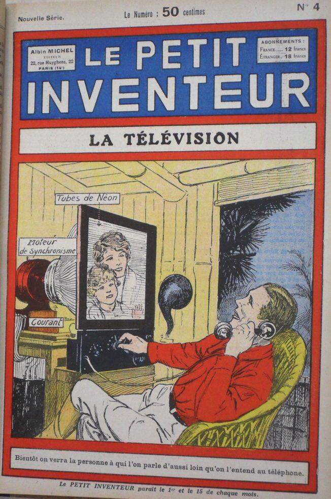 ancient webcam, video telephone, 1930s television.