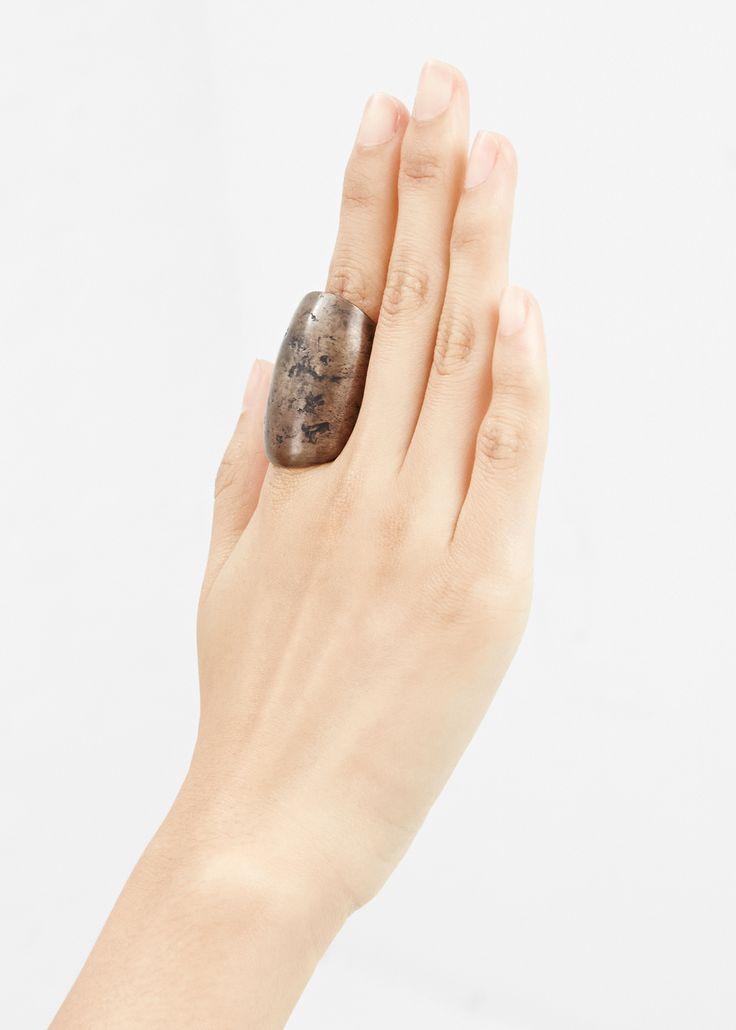 Amy Glenn Horn Ring (Aged Bronze)