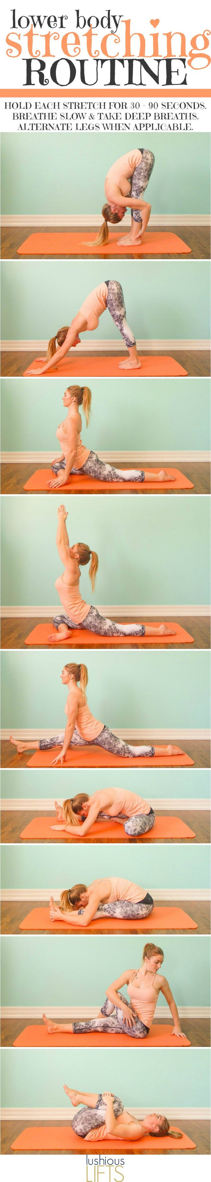 Lower Body Stretching Routine which Focuses on the Hips, Glutes and Hamstrings    Lushious Lifts