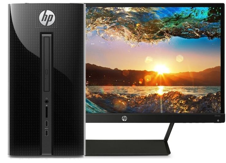 """HP Desktop Computer Tower + 21"""" HP Monitor DVD+RW WiFi 500GB 4GB (FULLY LOADED) #HP Best computers for sale deals @easypeasycomputers http://www.easypeasycomputers.com #computer #computers #cheapcomputers #computersforsale #computersale #hp #dell #newcomputer #pc #hpcomputers #dellcomputers #computerdeals"""