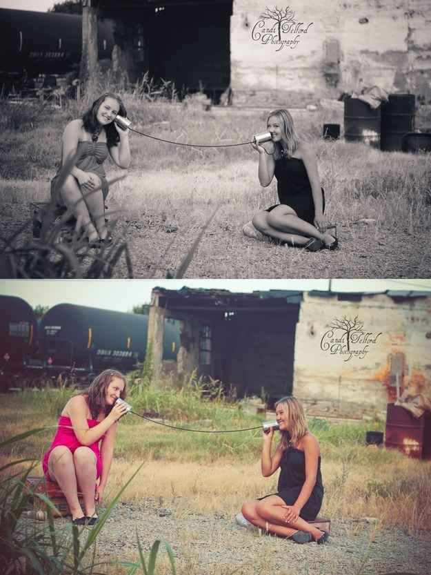 Re-create a childhood activity. | 37 Impossibly Fun Best Friend Photography Ideas