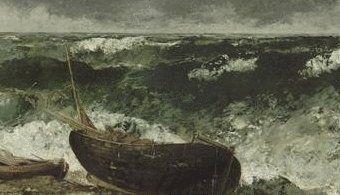 Musée d'Orsay: Gustave Courbet El mar tormentoso