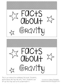 Freebie Flip Book for Science- Facts about Gravity