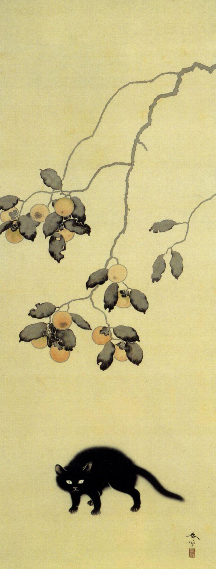 「黒猫」1910年 播磨屋本店蔵 36歳で亡くなった春草の画業はおよそ... 菱田春草展の記者