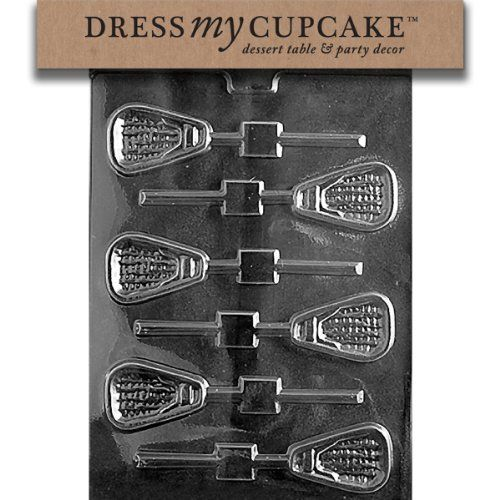 Dress My Cupcake Chocolate Candy Mold, Lacrosse Lollipop