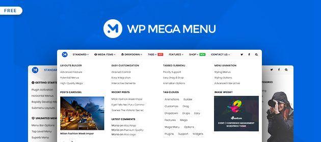 WP Mega Menu  Great Free Mega Menu Builder Plugin for WordPress