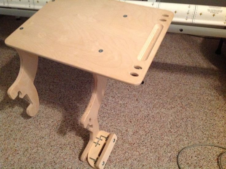 """GRACE WOODEN CLAMP ON LAPTOP TABLE -FITS ON LONG ARM QUILTING FRAME 16""""x 21"""" top #Grace"""