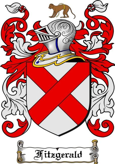fitzgerald family crests and shields | FITZGERALD FAMILY CREST - COAT OF ARMS Art Prints by Family Crest ...