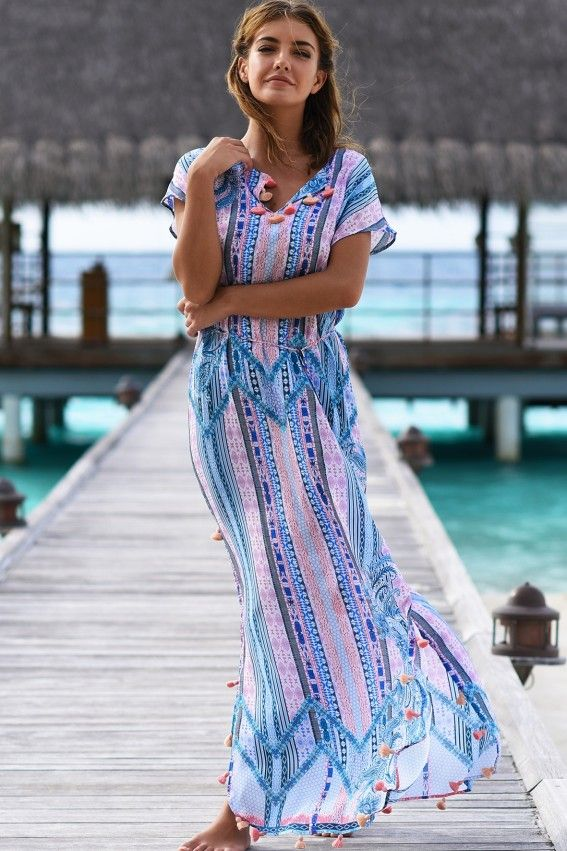 4feb5ac120 This gorgeous seafolly beach dress makes us dream of summer days and  carefree holidays. | Kaftans and Cover-ups | Beach dresses, Fashion, Dresses