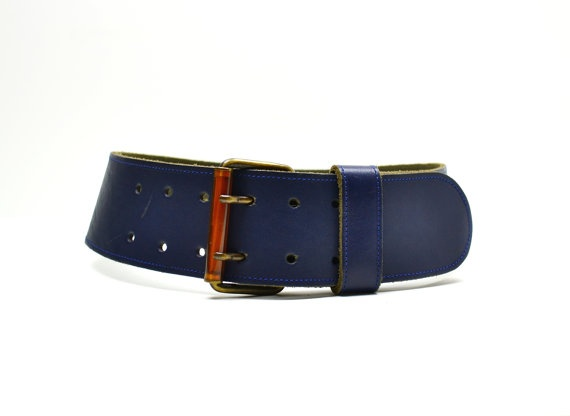 navy blue leather belt s small cinch