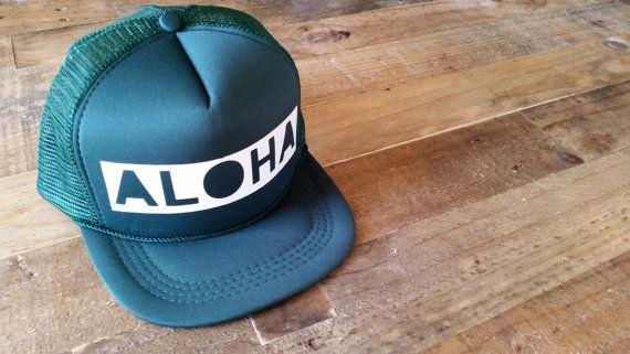 Aloha Baby Snapback Hat Toddler Trucker Hat Baby by LAHIdesign