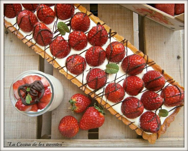tarta de fresas y crema mascarpone