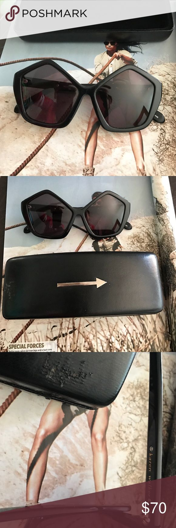 Karen Walker Sunglasses 100% Authentic Black in great Condition.. case included .. case has some scratches Karen Walker Accessories Glasses