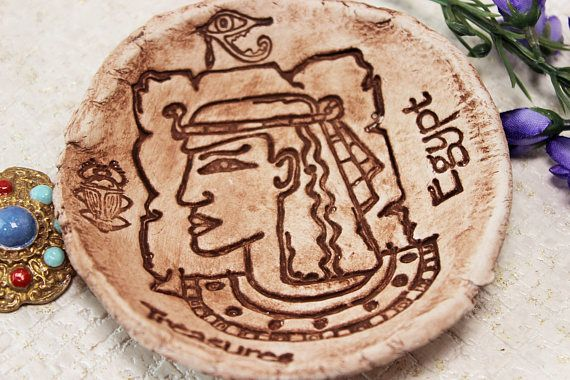Ancient Egypt Clay bowl Rustic ring dishes Egyptian decor