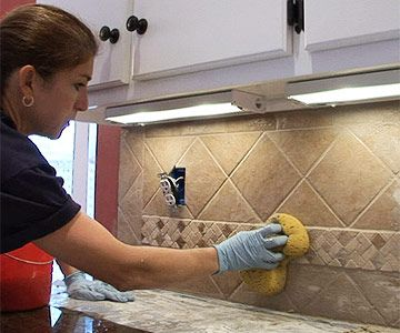 install a ceramic tile backsplash