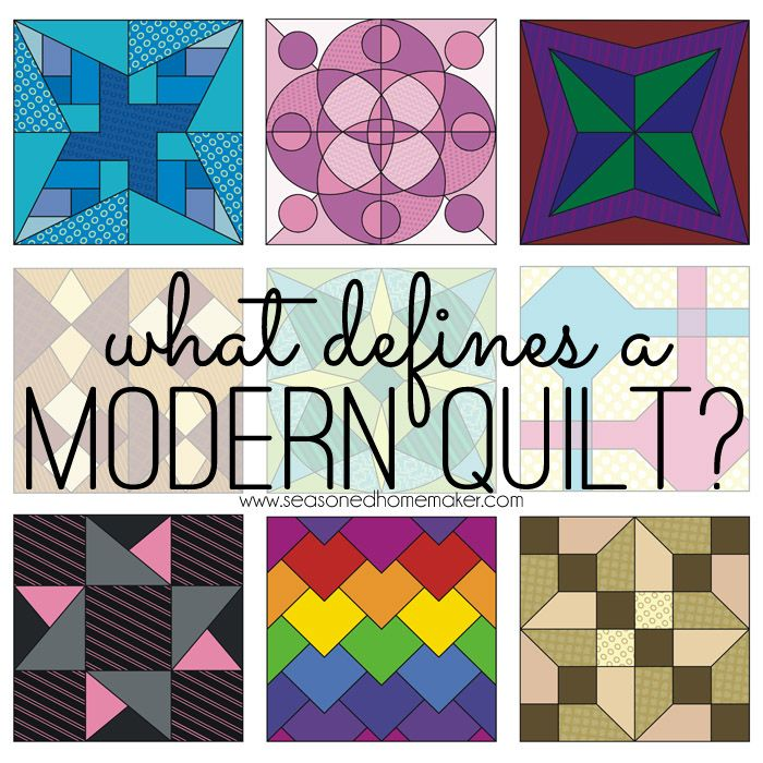 Lately, I've been pondering this question: What Defines a Modern Quilt? What do all modern quilts have in common? What makes them modern vs. traditional.