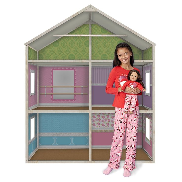 18 in doll houses | ... Dreamhouse - Amazing 6-foot Wooden Doll House for 18 inch Play Dolls