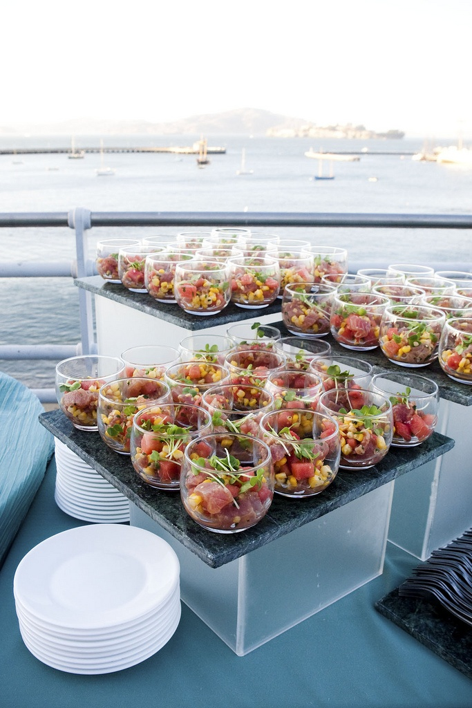 seaside appetizer and display