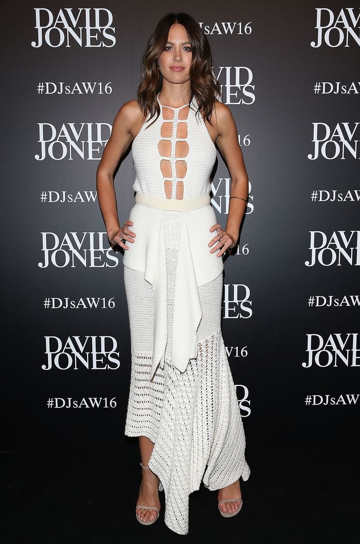 White dress david jones - Jesinta Campbell