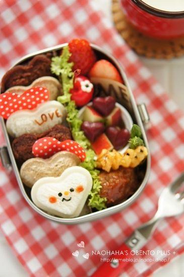 【連載】バレンタインサンドイッチのお弁当++ naohaha's obento*