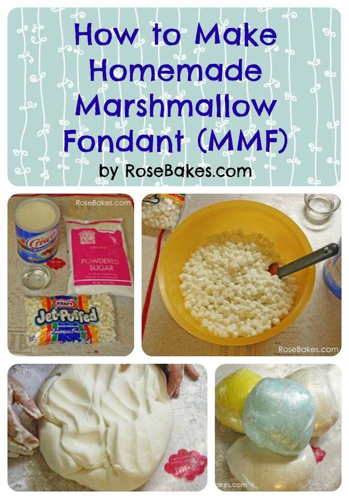 How to Make Homemade Marshmallow Fondant Tutorial Step-by-Step Instructions
