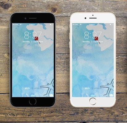 """Flying"" iPhone 6 digital wallpaper/creative background by LeMounir"