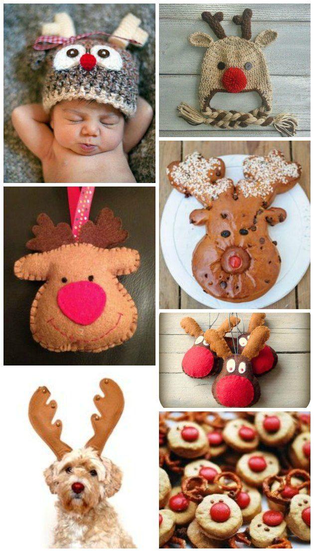 Alt lige fra babyhuer, vovser, kager og pynt med hyggelige Rudolfer