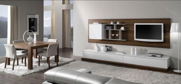 mueble-salón-blanco-nogal