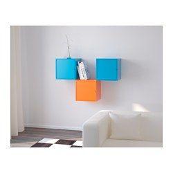IKEA - LIXHULT, Combinaison de rangement, , Une combinaison complète et colorée pour ranger toutes sortes de choses plus ou moins volumineuses.Le rangement à l'intérieur de la porte est idéal pour classer vos papiers importants, vos lettres ou vos journaux.