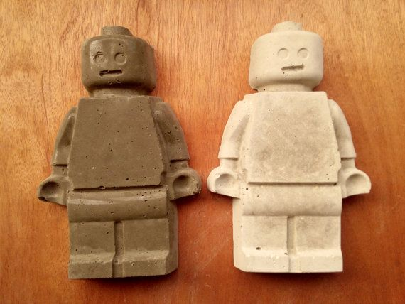Lego Minifigure Concrete EXTRA LARGE By Concreative On Etsy Pictures