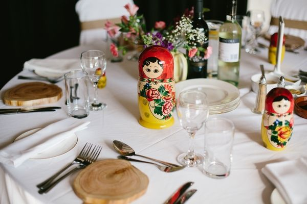 Russian themed wedding table