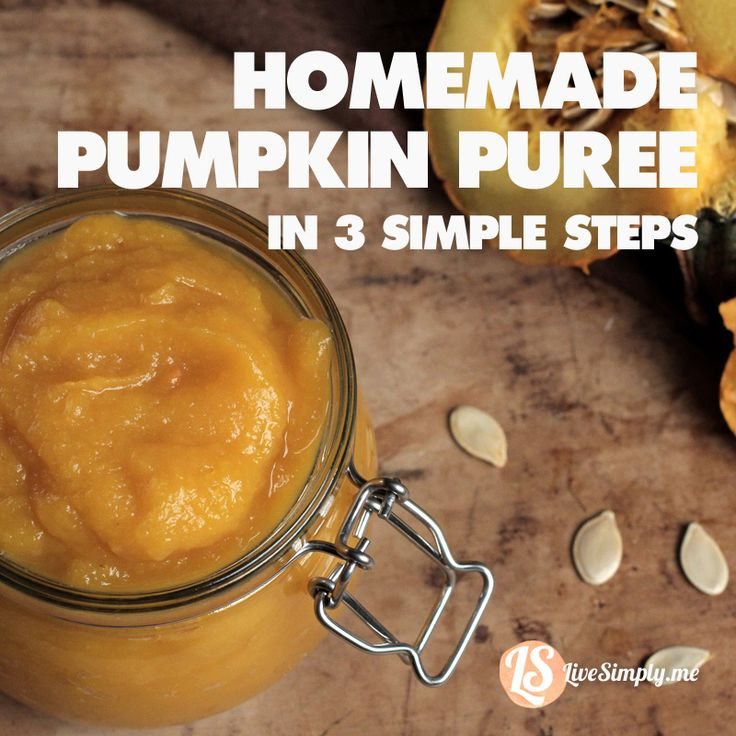 Homemade Pumpkin Puree in Three Simple Steps. So easy to make and keeps for months! Easy and inexpensive.