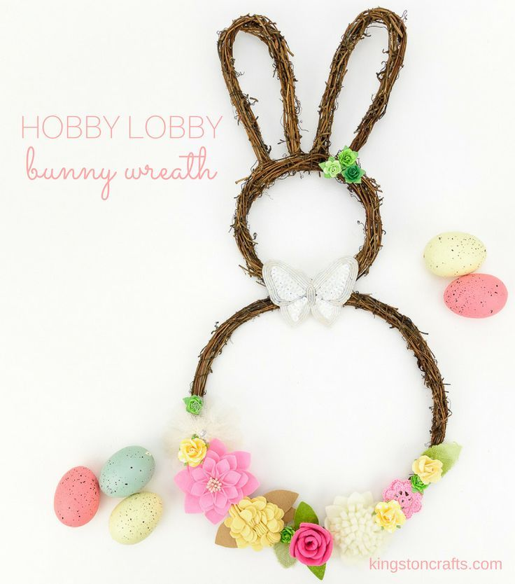 Last minute Easter wreath video tutorial - thank goodness for Hobby Lobby sales!