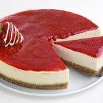 """Cheesecake φράουλας διαίτης με το φυσικό γλυκαντικό """"onstevia'"""