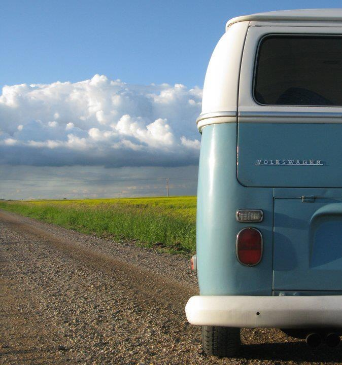 VW Bus...we had a green and white one and traveled the USA, Mexico and Canada in it in the 70's. Unforgettable fun!