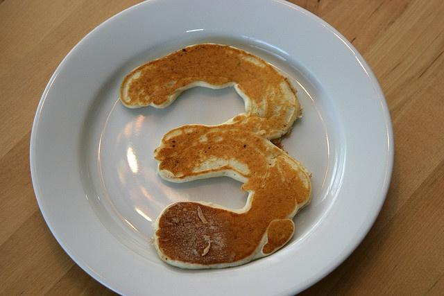 Birthday pancake! Fun tradition to start :)