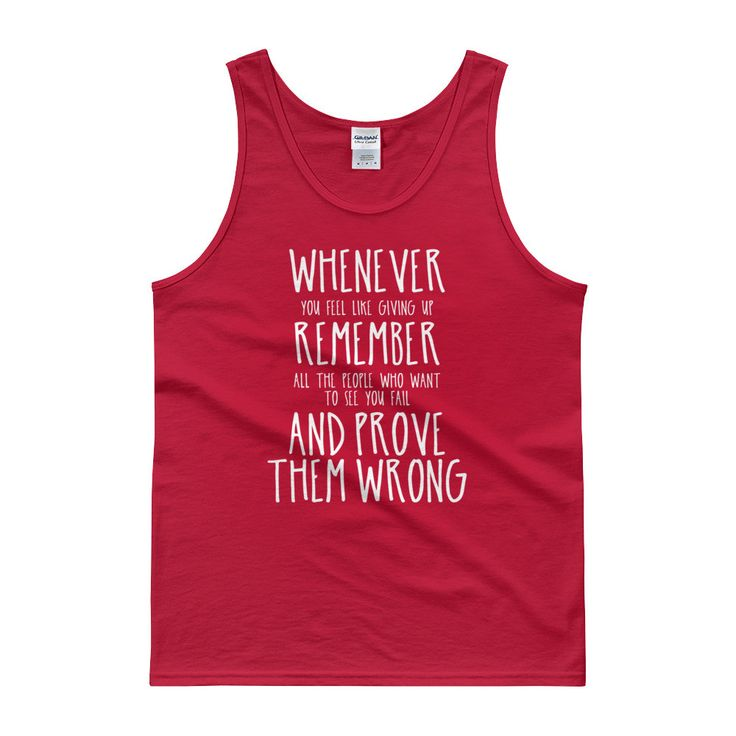 Prove Them Wrong (White Text) - Men's Tank Top