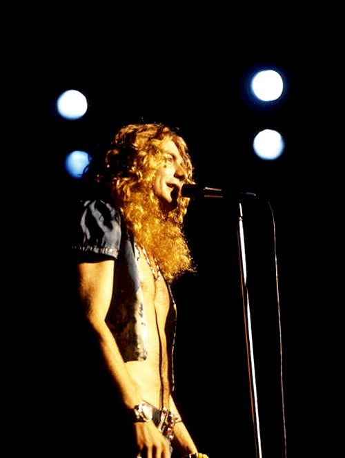 Robert Plant on stage at Madison Square Garden, 1973. The Song Remains The Same!!