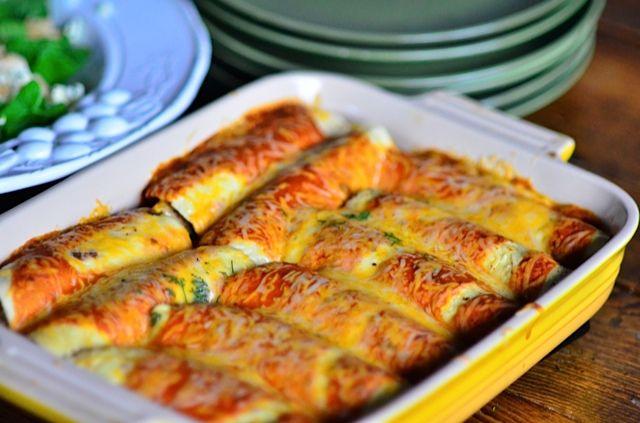 Butternut & Squash Enchiladas from @Sandy   Reluctant Entertainer