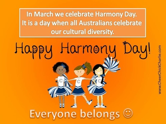 Cheer Chick Charlie, Bella and Laura are big fans of Harmony Day.  Everyone belongs!  For more Cheer Chick Charlie you can follow our facebook page at www.facebook.com/cheerchickcharlie