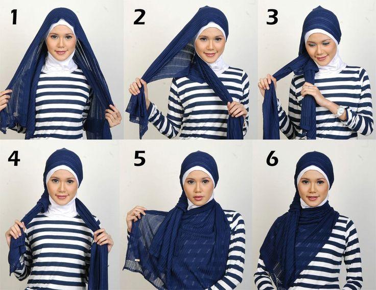 Begini step by step Hijab Simpel-nya.. mudah tapi kereenn kannn? yuuu praktekin!