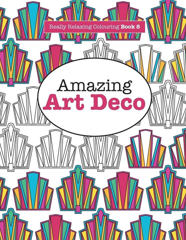 Book 8 Amazing Art Deco Really Relaxing Colouring Set