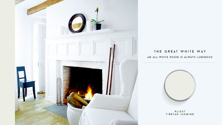 An all-white room will forever be a classic. Try Ralph Lauren Paint in Tibetan Jasmine. // #home #paint
