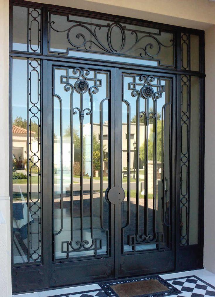 Diseno de puertas modernas de herreria casas modernas for Puertas de herreria forjada