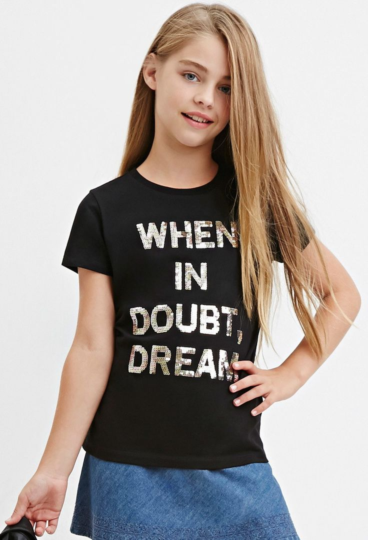 Girls Sequined Dream Graphic Tee (Kids) | Forever 21 girls - 2000183074