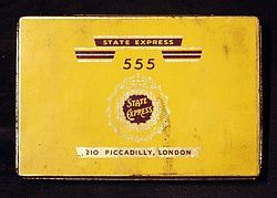 An old State Express 555 cigarettes tin Product type Cigarettes Owner British American Tobacco Country United Kingdom Introduced 1896; 121 years ago Previous owners Ardath Tobacco Company