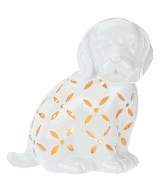 Valerie Parr Hill Puppy Plug-In Illuminated Ceramic Figurine