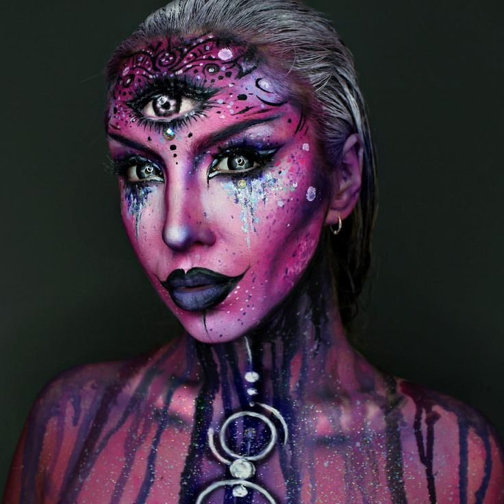 """Ellie H-M on Instagram: """"Another view of my Alien Makeup! """""""